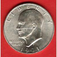 1971 год. США. Монета 1 доллар. S Серебро.