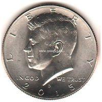 2015 год. 50 центов. Кеннеди