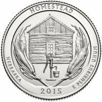 2015. 25 центов. 26 Национальный парк Гомстед Homestead.