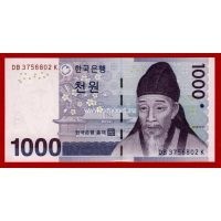 2007 год. Корея банкнота 1000 вон. UNC