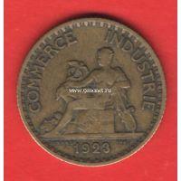 1923 год. Франция монета 1 франк.