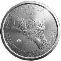 2017 год. Канада 5 долларов Рысь.