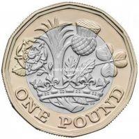 2016 год. Великобритания монета 1 фунт. 12 граней.