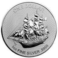 Острова Кука 1 доллар 2016 года Парусник (серебро)