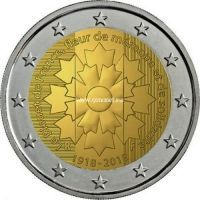Франция 2 евро 2018 года Василек