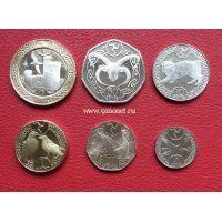 Остров Мэн набор 6 монет 2017 года