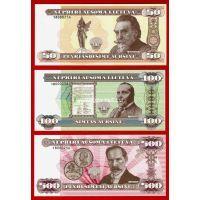 Литва Официальный набор сувенирных банкнот 2018 года 100 лет Независимости Литвы.