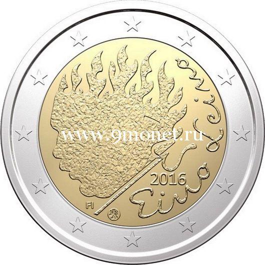 Финляндия 2 евро 2016 Эйно Лейно.