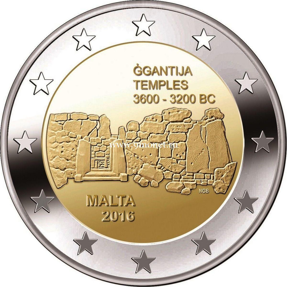 2016 год. Мальта. Монета 2 евро. Джгантия.