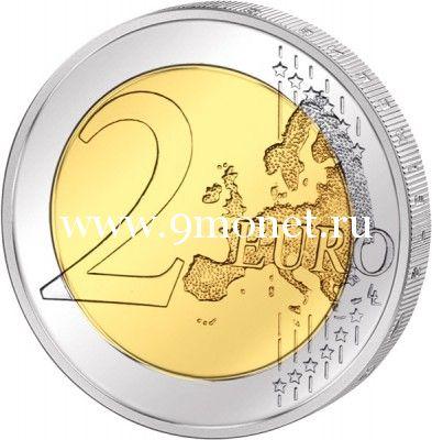 2014г. 2 евро. Португалия. 40 лет Революции Гвоздик