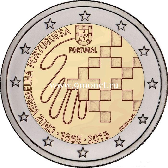 2015г. 2 евро. Португалия. «150 лет Португальскому Красному Кресту»