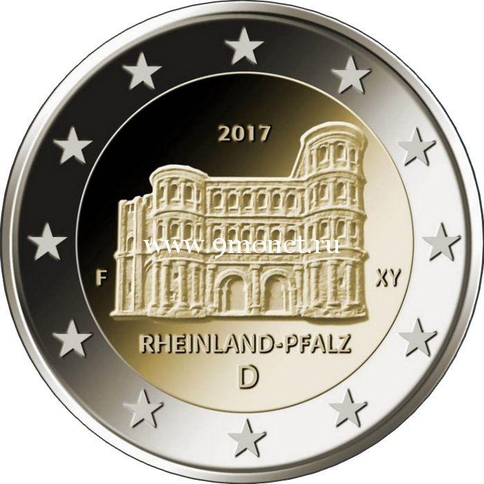 2017. Германия 2 евро. Рейнланд-Пфальц.