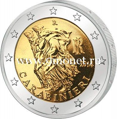 2014г. 2 евро. Италия. Карабинеры