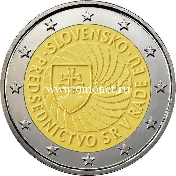 2016 год. Словакия. Монета 2 евро. Председательство Словакии в Совете Европейского союза.