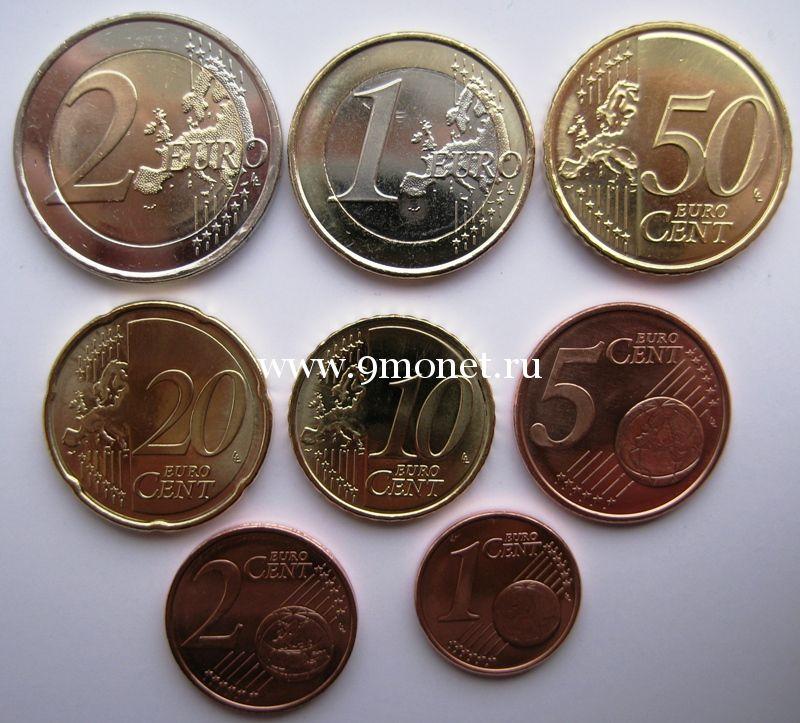 ЭСТОНИЯ Набор евро монет 2011 г.