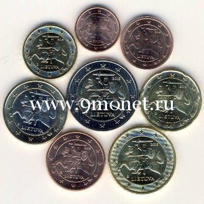 Литва набор евро монет 2015 года.