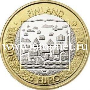 2016 год. Финляндия. Монета 5 Евро. 4 президент Кюёсти Каллио.