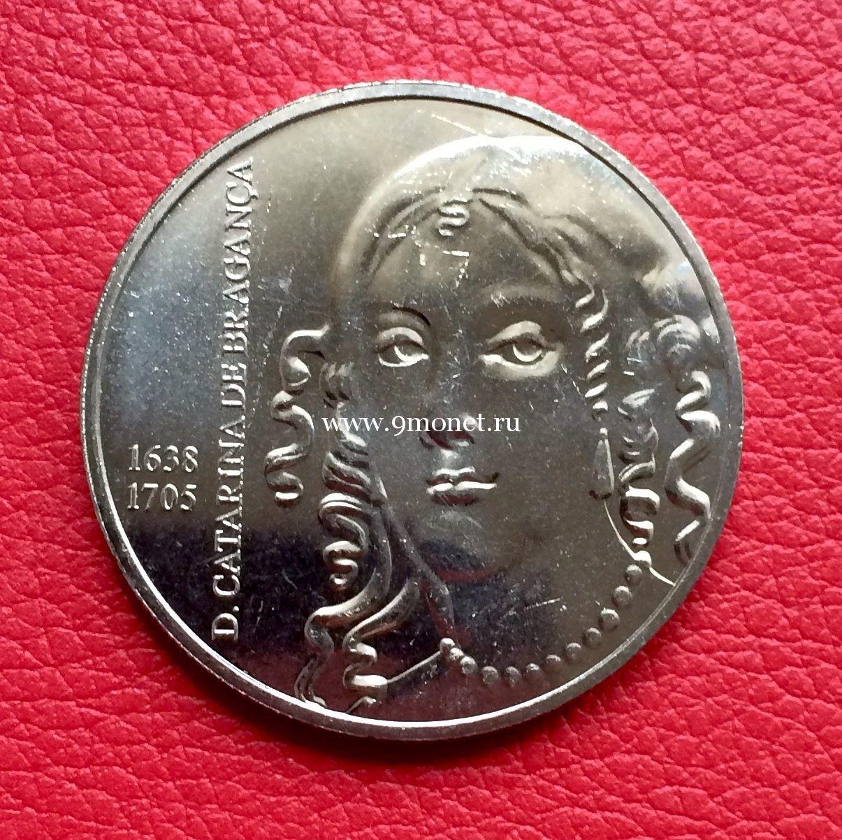 Монета 5 Евро Португалия 2016 года. Екатерина Брагансская.