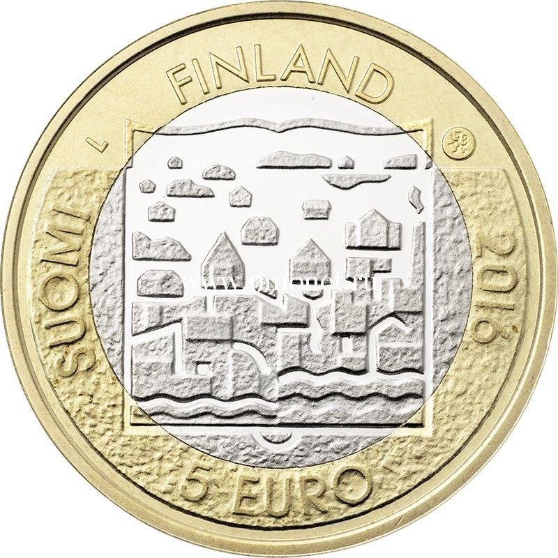 2016 год. Финляндия. Монета 5 Евро. 1 президент Каарло Юхо Стольберг.