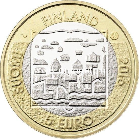 2016 год. Финляндия. Монета 5 Евро. 3 президент Пер Эвинд Свинхувуд.