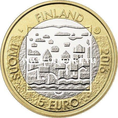 2016 год. Финляндия. Монета 5 Евро. 2 президент Лаури Кристиан Реландер.