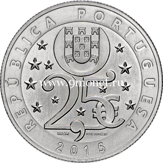 2015 год. Португалия монета 2.5 евро. UNC. Изменение климата.