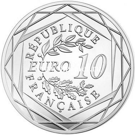 Франция 10 евро 2016 Галльский петух. серебро