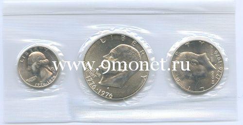 США набор монет 1976 года 200 лет независимости. (серебро)