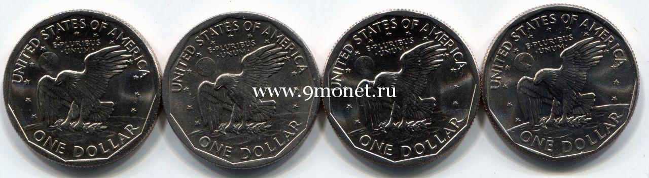 Набор из 4 монет 1 доллар США (Сьюзен Энтони)