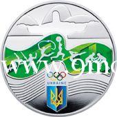 Монета Украины 2016 год. 2 гривны. Олимпиада в Рио-де-Жанейро