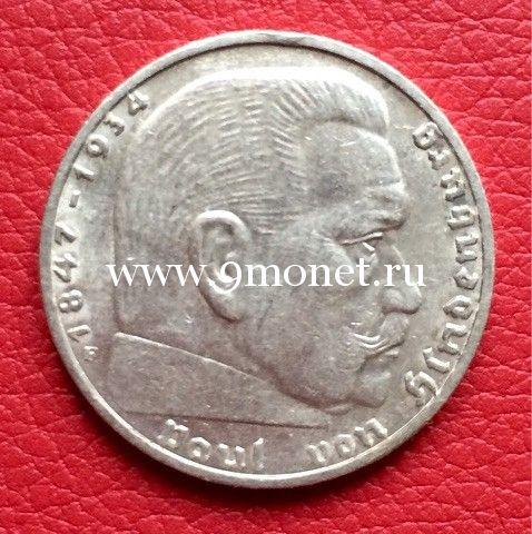 1937г. 2 марки. Германия. III Рейх.