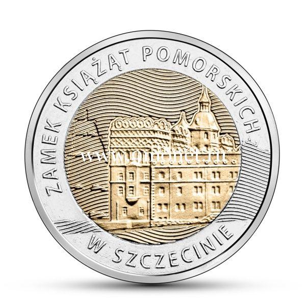 Польша 5 злотых 2016 года Замок Поморских князей в Штеттине.