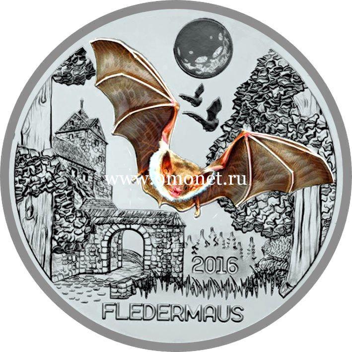 2016 год Австрия монета 3 евро Летучая мышь