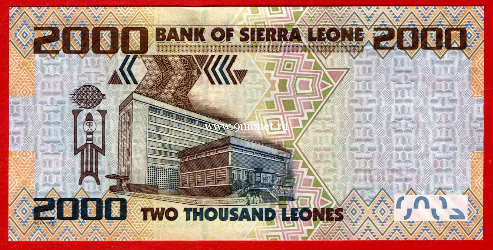 2010 год. Сьерра-Леоне банкнота 2000 леоне. UNC