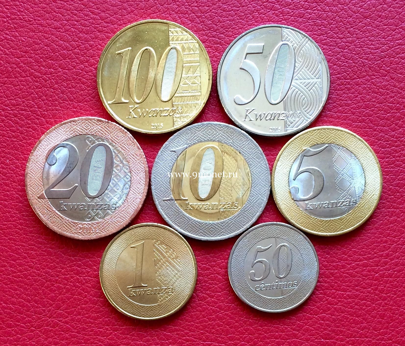 2012-2015 год. Ангола набор 7 монет.