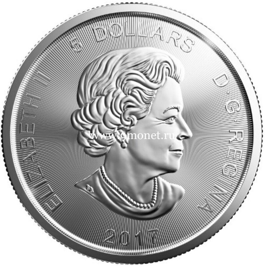 2017 год. Канада 5 долларов Рысь