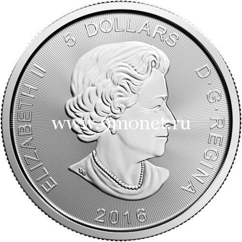 2016 год. Канада 5 долларов Пума