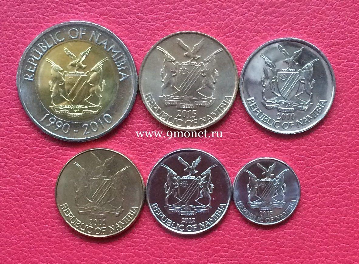 Намибия набор 6 монет