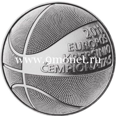 Литва 1 лит 2011 года Чемпионат Европы по баскетболу.
