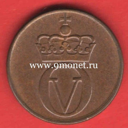 Норвегия монета 2 оре 1972 года.