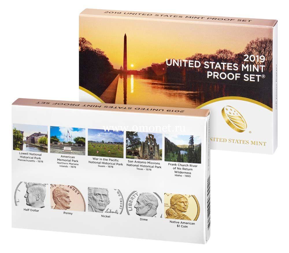 США годовой набор монет 2019 Proof Set