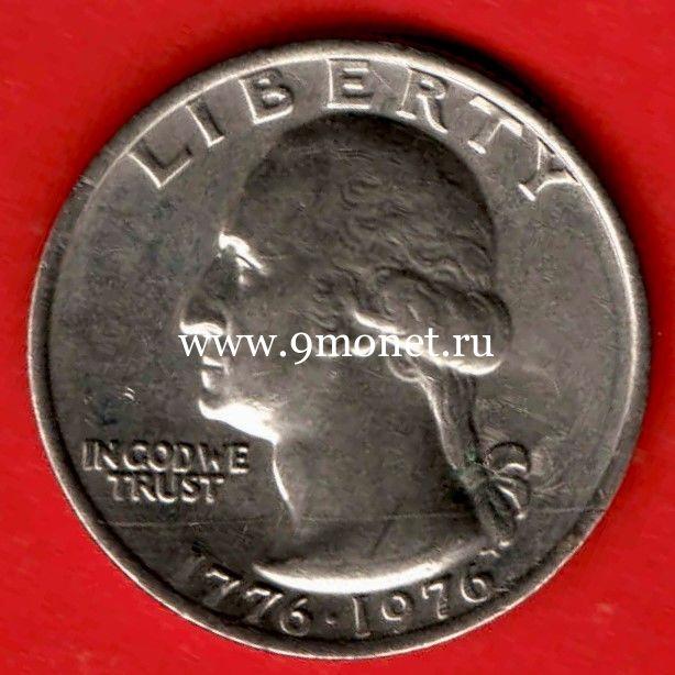 США 25 центов 1976 года Барабанщик P - Филадельфия