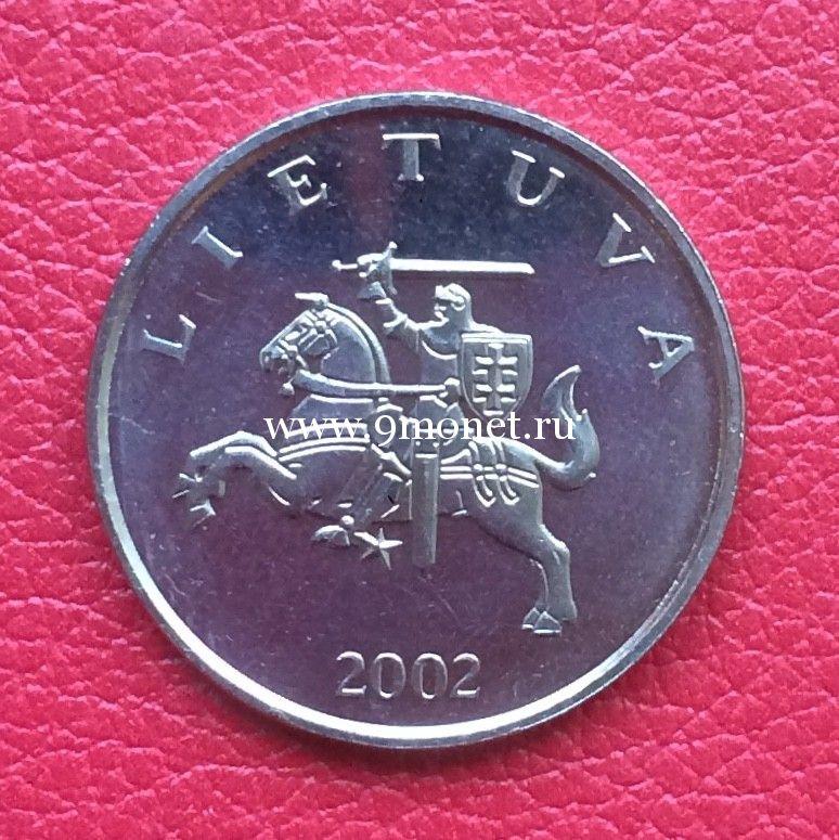 Литва 1 лит 2002 года.