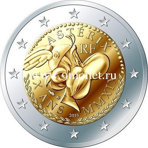 Франция 2 евро 2019 года 60 лет Астериксу.
