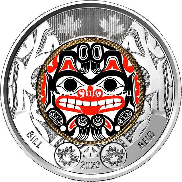 Канада 2 доллара 2020 года Билл Рид (цветная)