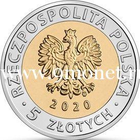 Польша 5 злотых 2020 года Дворец Браницких.