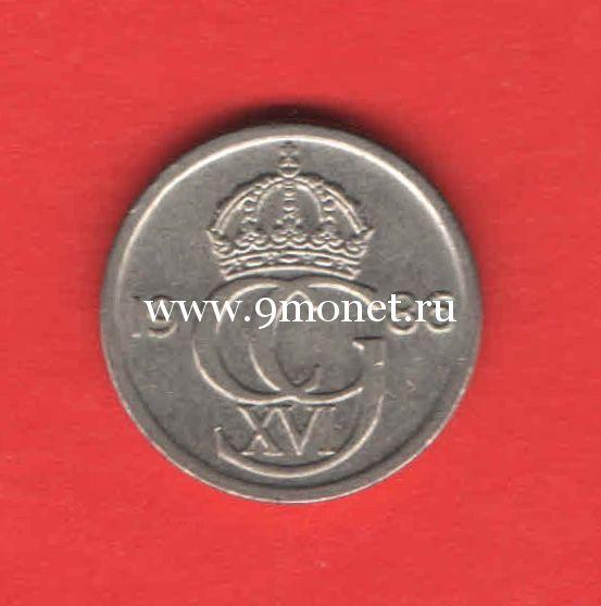 Швеция монета 10 эре 1986 года.