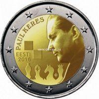 2016 год. Эстония. Монета 2 евро. 100 лет со дня рождения Пауля Кереса.