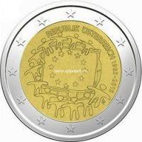 2015г. 2 евро. Австрия. 30 лет флагу Европы.