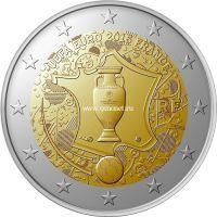 2016 год. Франция. Монета 2 евро. Чемпионат Европы по футболу 2016 во Франции.